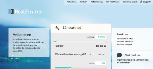 Ekspresslån screenshot