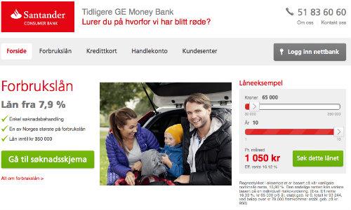 GE Money Bank screenshot