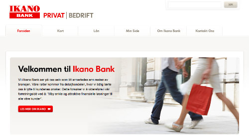 Ikano Bank screenshot