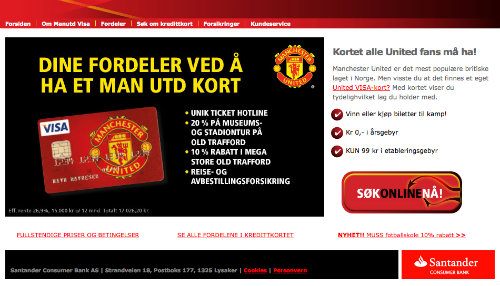 Manchester United Visa screenshot