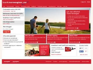Norwegian kredittkort screenshot
