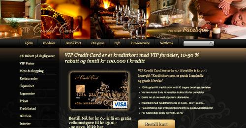 VIP Credit Card screenshot