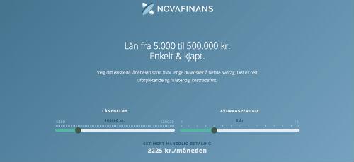 Nova Finans screenshot