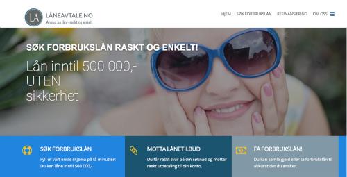 Låneavtale.no screenshot