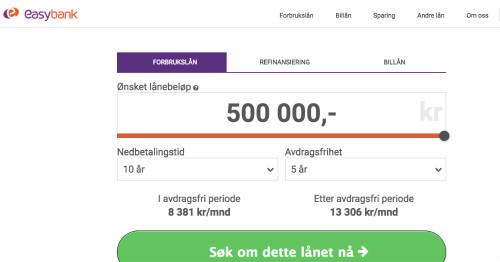 Easybank screenshot