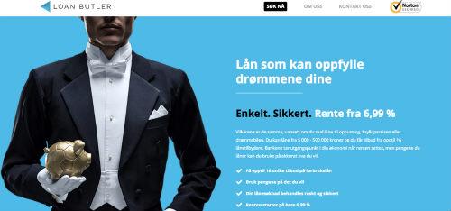 Loanbutler.no screenshot
