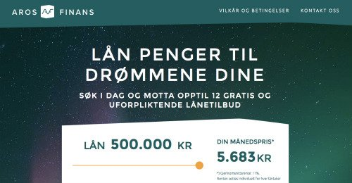 Aros Finans screenshot