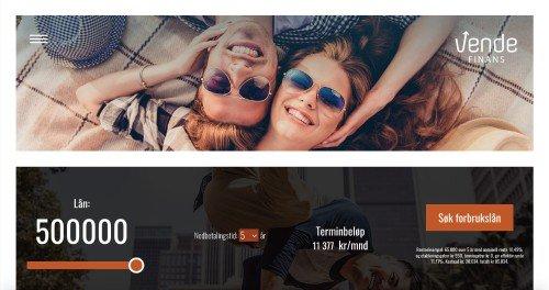 Vende Finans screenshot