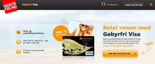 Gebyrfri Visa screenshot