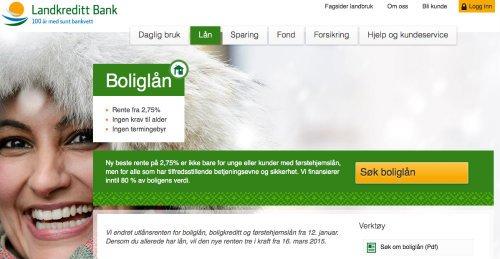 LandKreditt Bank screenshot