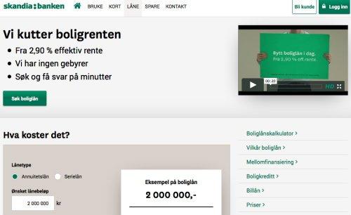 Skandiabanken screenshot