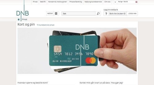 DnB Mastercard screenshot