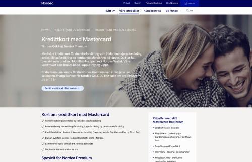 Nordea kredittkort screenshot