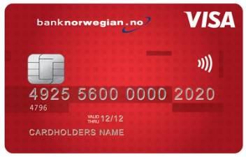 Betale regninger med Bank Norwegians kredittkort